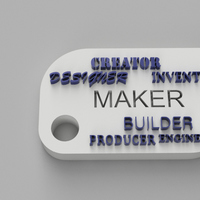 Small Maker Words Keychain 3D Printing 105177