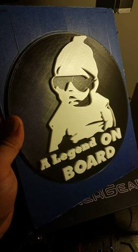 baby on board sign 3D Print 105279