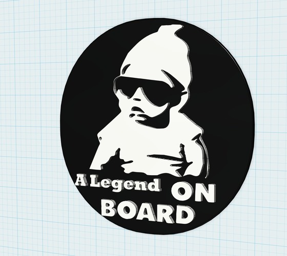 baby on board sign 3D Print 105280