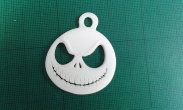 Medium Jack Skellington key fob 3D Printing 105347