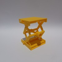Small Platform Jack [Fully Assembled, No Supports] 3D Printing 105352