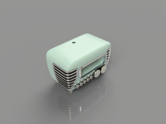 Mini Vintage Internet Radio 3D Print 105415