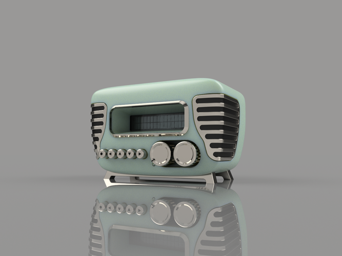 Mini Vintage Internet Radio 3D Print 105417