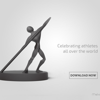 Small Athletic Statue 3D Printing 105422