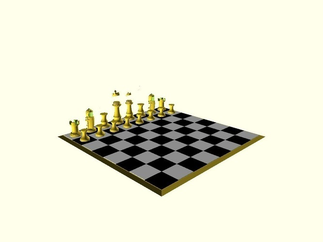 Clinton vs Trump Chess Set 3D Print 105459
