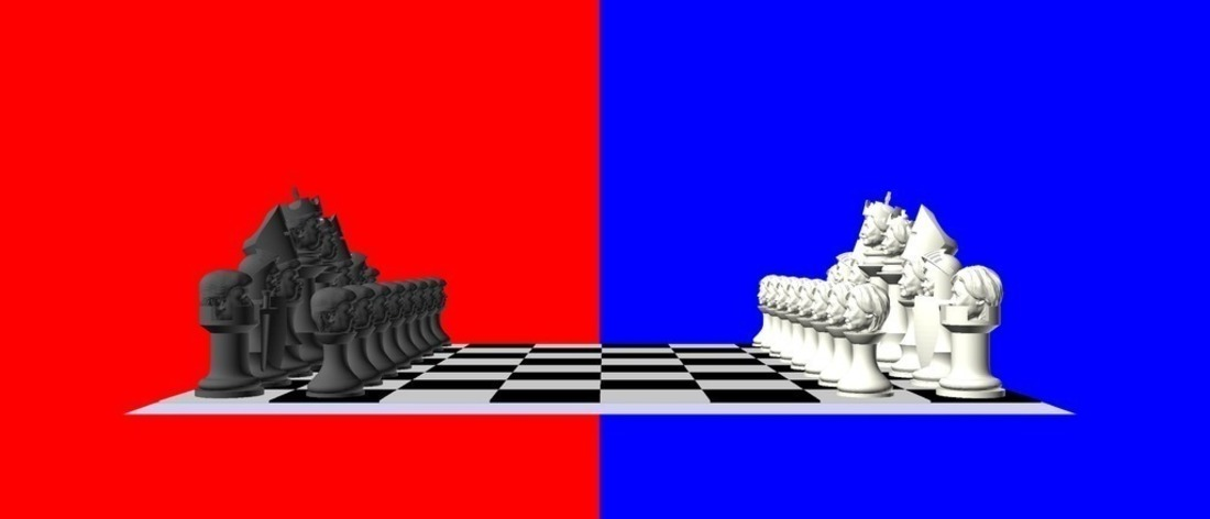 Clinton vs Trump Chess Set 3D Print 105460