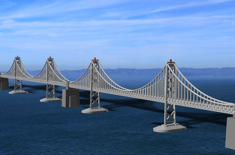 San Francisco Bay Bridge - Western Span 3D Print 105467