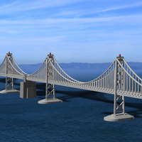 Small San Francisco Bay Bridge - Western Span 3D Printing 105467