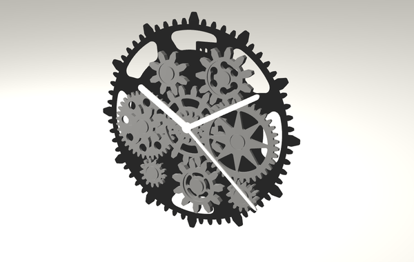 Medium GEAR CLOCK 3D Printing 105514