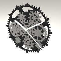 Small GEAR CLOCK 3D Printing 105514
