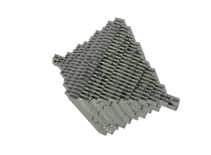 Step Pyramid Necklace  3D Print 10552