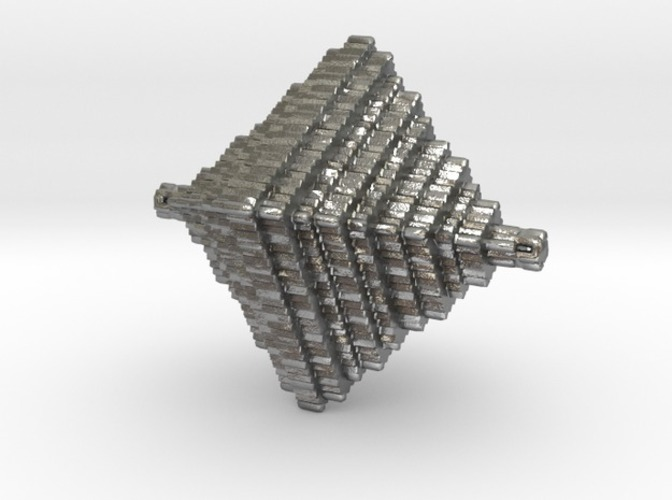 Step Pyramid Necklace  3D Print 10553