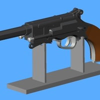 Small Stand for Mal's Model B Pistol 3D Printing 105551