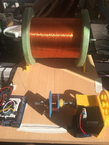 ARDUINO controled coil winder with nema 17 3D Print 105600