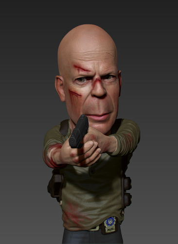 Bruce Willis DIE HARD 3D Print 105700