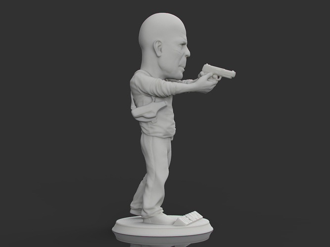 Bruce Willis DIE HARD 3D Print 105704
