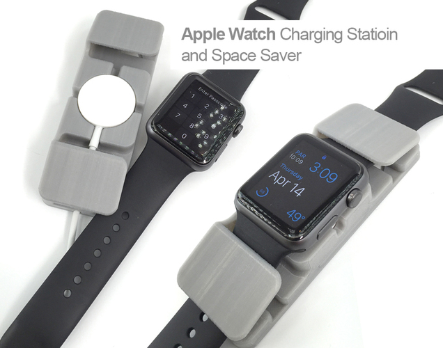 Apple Watch Charging Station and Space Saver 3D Print 105740