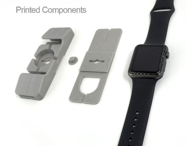 Apple Watch Charging Station and Space Saver 3D Print 105741