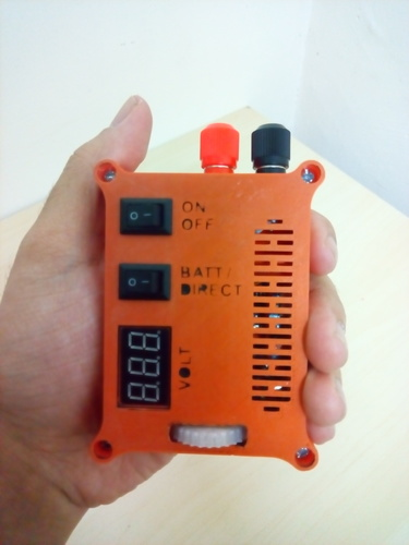 "The ""POCKET POWER"" - Variable power supply + voltmeter 3D Print 105761"