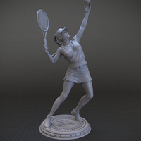 Small Girl player in Tennis 3D Printing 105818