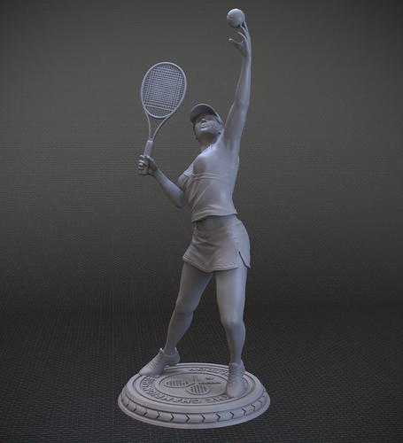 Girl player in Tennis 3D Print 105819