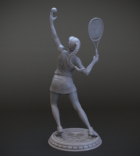 Girl player in Tennis 3D Print 105820