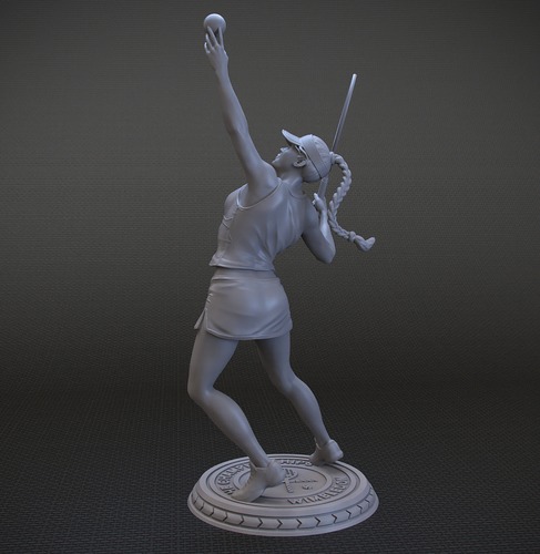 Girl player in Tennis 3D Print 105821