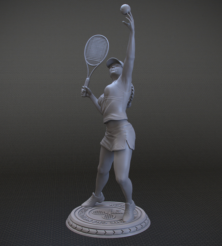 Girl player in Tennis 3D Print 105822