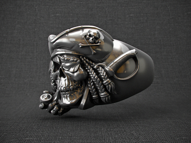 "ring ""pirate skull"" 3D Print 105826"