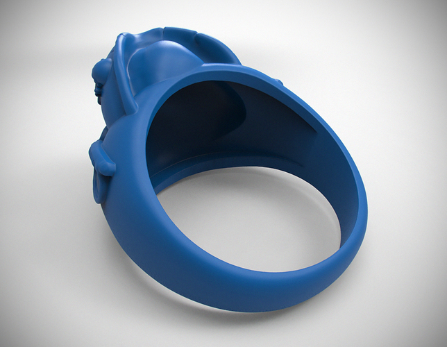 "ring ""pirate skull"" 3D Print 105830"