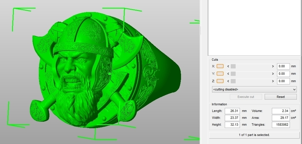 Ring Viking 3D Print 106232