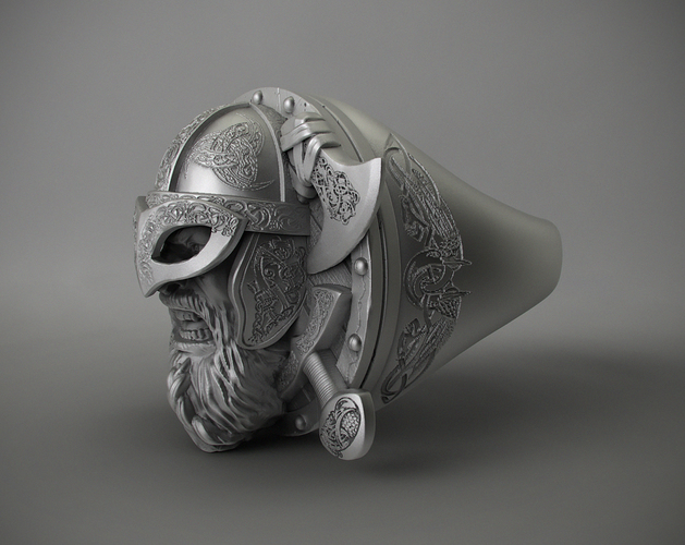 Ring Viking 3D Print 106234