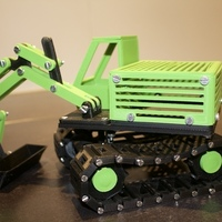 Small Real excavator 3D Printing 106320
