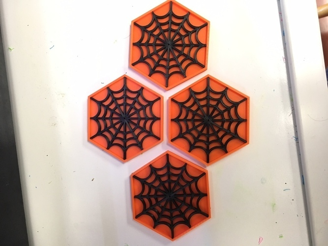 Remix of Spider Web Coaster 3D Print 106369