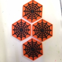 Small Remix of Spider Web Coaster 3D Printing 106369