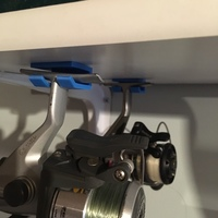 Small Fishing reel hook / hanger, under shelf 3D Printing 106396