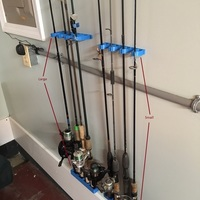 Small Fishing rod holder /  rack 3D Printing 106430