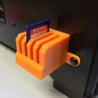Small SD Chip block for front of printer 3D Printing 106510