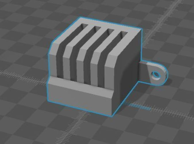 SD Chip block for front of printer 3D Print 106511
