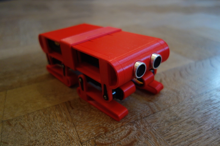 D printed quadruped robot by ronald jaramillo hape