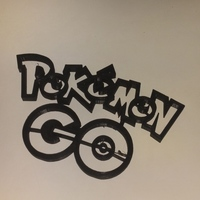 Small Pokemon GO logo 3D Printing 106551