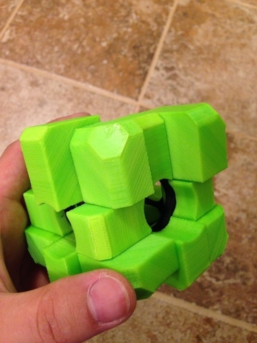 Rubiks Void Oddity Cube (fully printable) 3D Print 106574