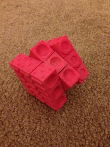Rubiks cube for the blind (using original Rubiks core) 3D Print 106602