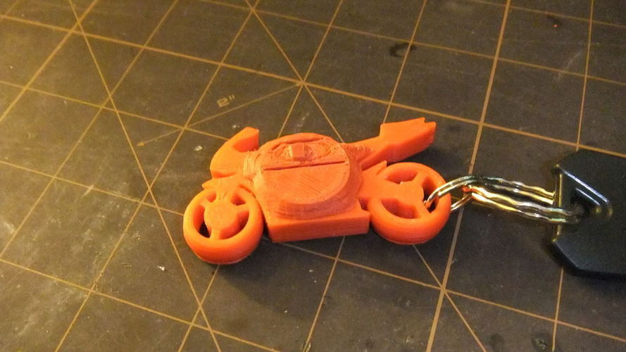 Motorcycle Keychain with Light 3D Print 106618