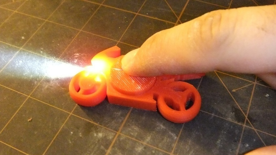 Motorcycle Keychain with Light 3D Print 106619