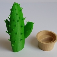 Small Cactus in a pot 3D Printing 106813