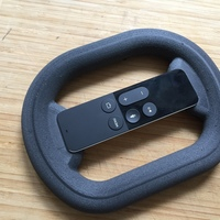 Small Apple TV 4 Remote super minimalistic steering wheel 3D Printing 106844