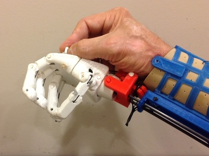 Prosthetic Hand for designers to experience 3D Print 106865