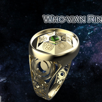 Small Who-Vian Ring 3D Printing 10687