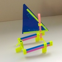 Small America's Cup Toy Boat Kit 3D Printing 106903